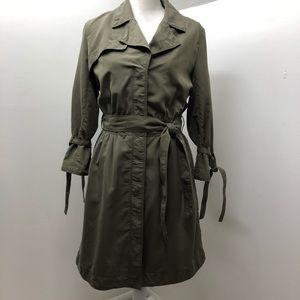Banana Republic Army Green Trench Dress Size 8